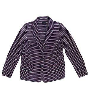TALBOTS | Purple Striped Blazer